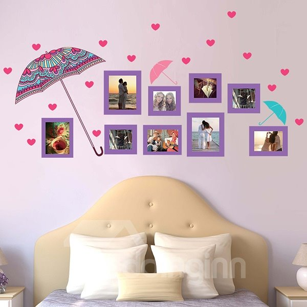 New Arrival Photo Frame and Umbrella Pattern Wall Sticker