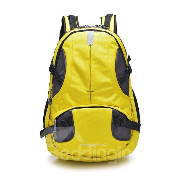 45L Bright Color Waterproof Hiking Camping Cycling High Capacity Nylon Backpack