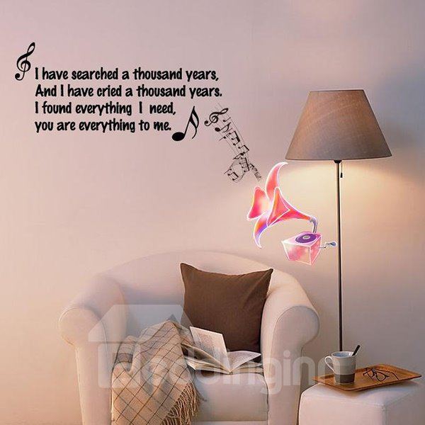 New Arrival Letter and Music Wall Stickers for Home Decoration