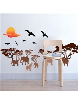 Beautiful Sunset Scenery Pattern Wall Sticker