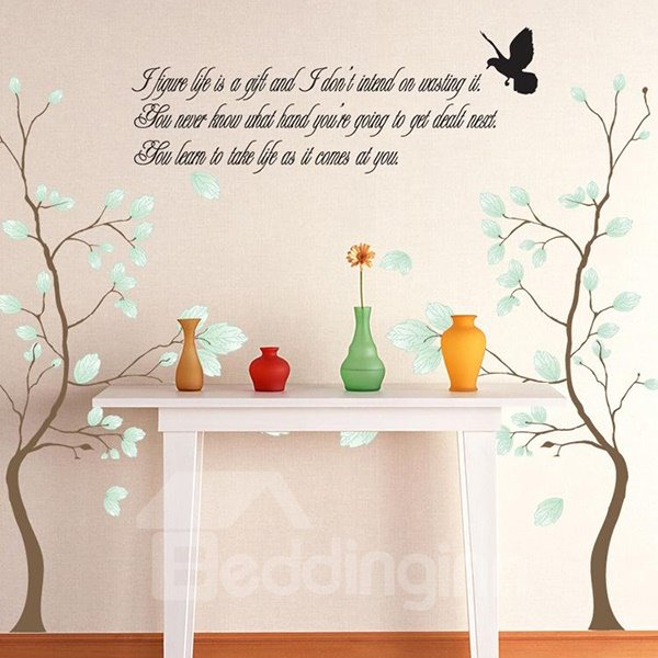 Amazing Decorative Tree and Letter Pattern Wall Stickers
