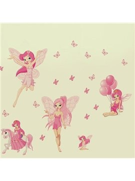 Cute Pink Spirit Pattern Wall Sticker