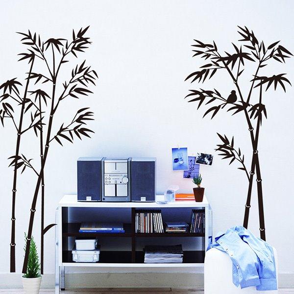 Simple Style Black Bamboo Pattern Wall Sticker