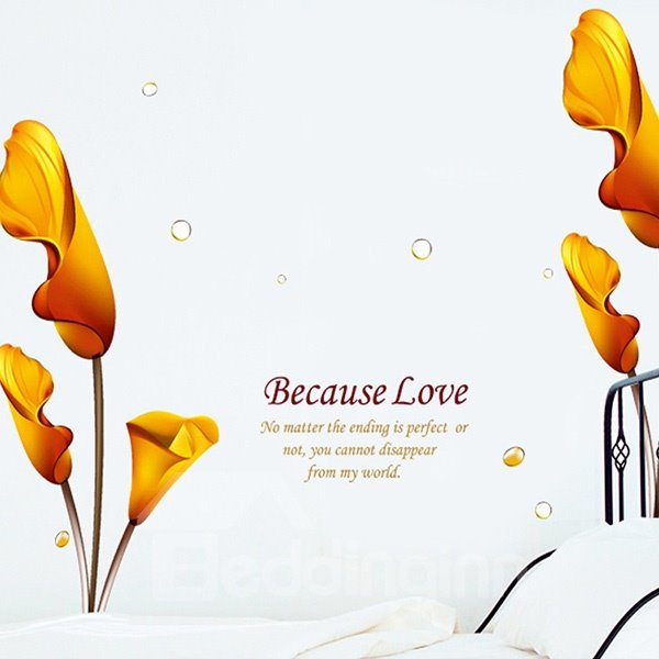 Hot Sale Love and Flowers Pattern Wall Sticker