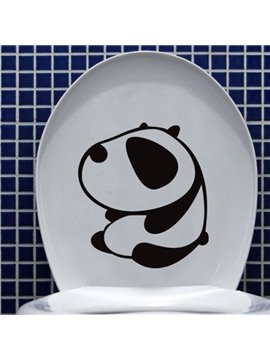 Cute Black Panda Pattern Bathroom Wall Sticker