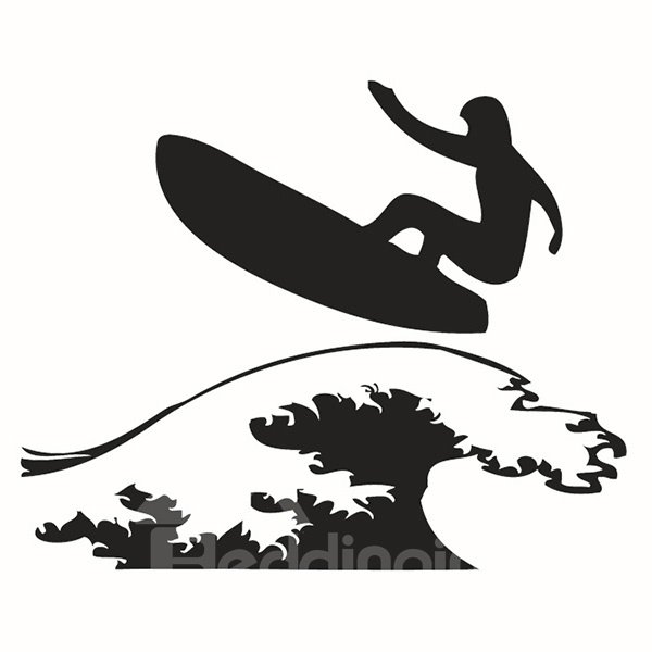 Simple Style Amusing Surfing Pattern Wall Stickers