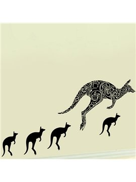 Hot Sale Simple Kangaroo Pattern Wall Sticker