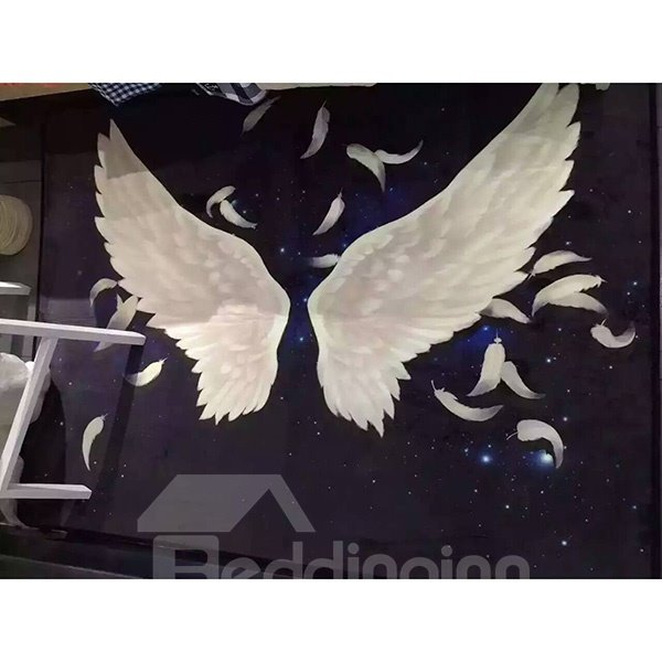 Beautiful Blue Angle Wings Pattern Area Rugs