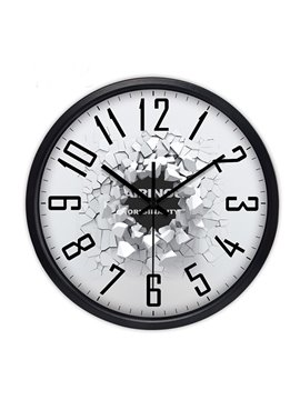 Simple Style 3D Broken Pattern Wall Clock