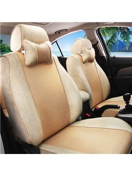 Luxurious Breathable Material Solid Style Universal Car Seat Cover