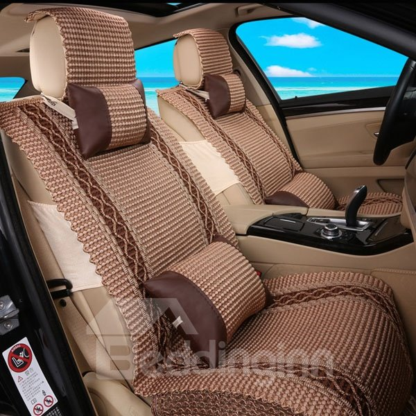 Cool Ice Silk Material With Simple Design Universal Car Seat Cover