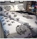 Magnificent Concise Design Black 4-Piece Cotton Bedding Sets