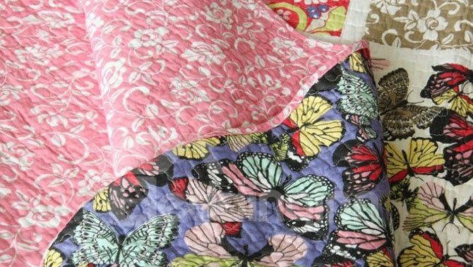 Beautiful Butterflies Print Cotton 3-Piece Bed in a Bag