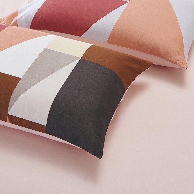 Neutral Contrast Color 4-Piece Cotton Duvet Cover Sets