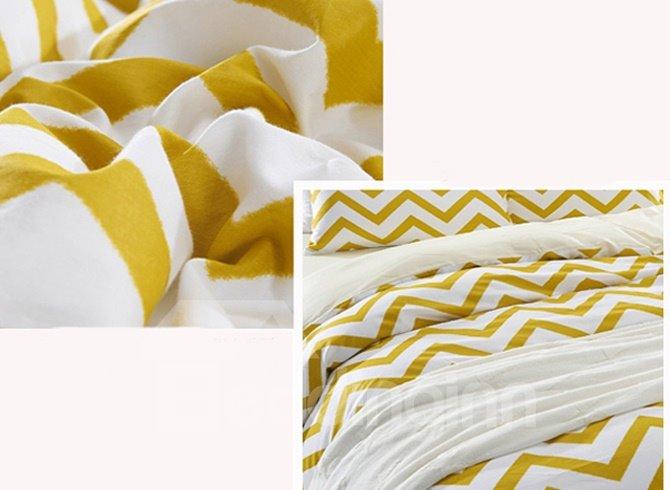 Fancy Concise Ripple Design 4-Piece Cotton Duvet Cover Sets