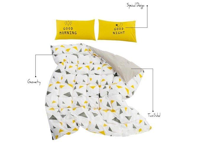 Fabulous Concise Triangle Print 4-Piece Duvet Cover Sets