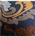Noble Design Romantic Pattern Blue Throw Pillowcase