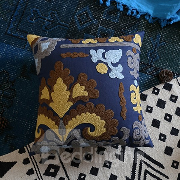 Chic Design Beautiful Pattern Blue Throw Pillowcase