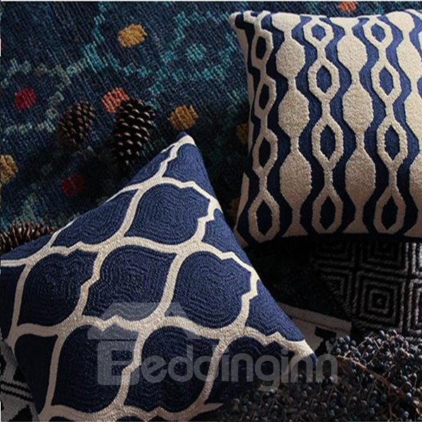 Special Design High Class Blue Throw Pillowcase
