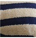 Neutral Concise Design Ripple Print Throw Pillowcase