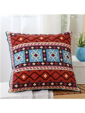 Ethnic Style Chic Pattern Print Throw Pillow