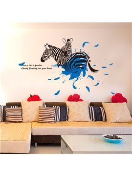 Hot Sale Creative Zebra Wall Stickers for Home Decoration