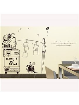 New Arrival Simple Memory of Travel Wall Stickers for Home Decoration