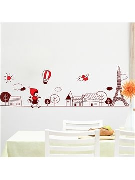 Cute Little Girl Wall Stickers for Home Decoration