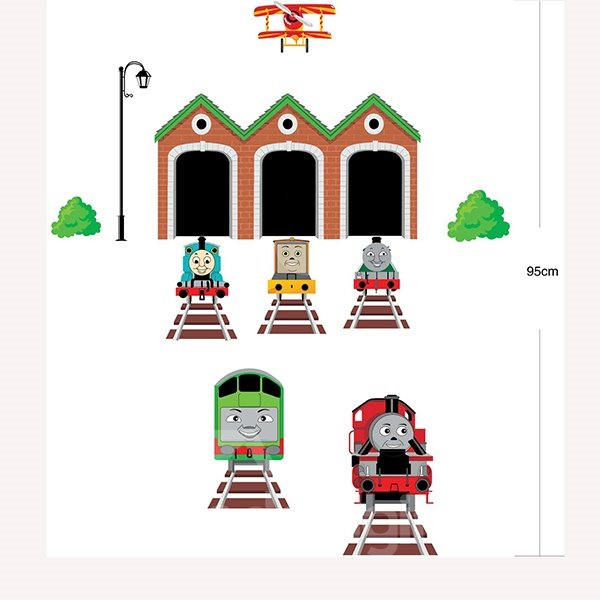 New Arrival Cute Train Wall Stickers for Home Decoration