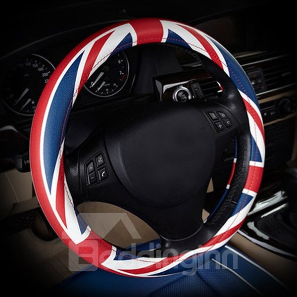 Red Blue And White Fashion Universal Steering Wheel Cover