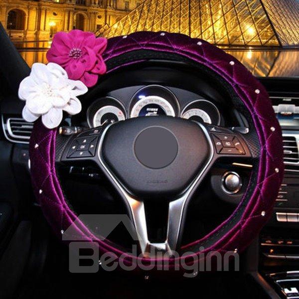 Attractive And Charming Purple Style Steering Wheel Cover