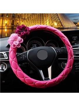 Charming Hot Selling Rose Red Style Steering Wheel Cover