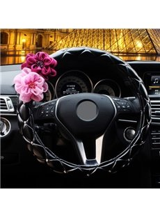 Amazing Hot Selling High Quality With Flowers Steering Wheel Cover