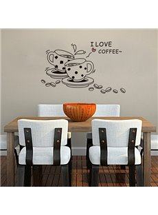 Simple Coffee Wall Stickers for Home Decoration