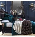 Magnificent Embroidery Embellishment 4-Piece Polyester Duvet Cover Sets