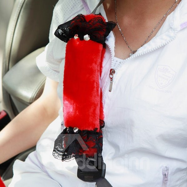 Beautiful And Cute Style With Lace Seat Belt Cover