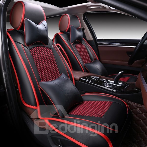 Luxury And Classic Black Red Mixing Durable Universal Car Seat Cover