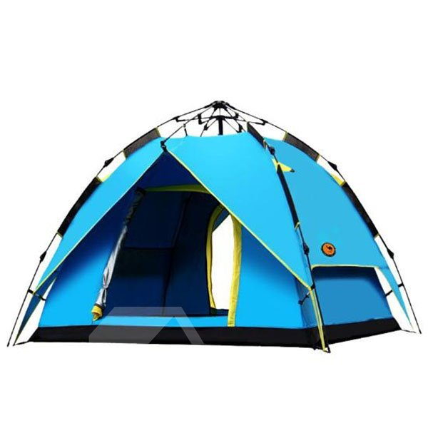 3-4 Person Quick Automatic Opening Polyester Instant Four-Season Camping Tent