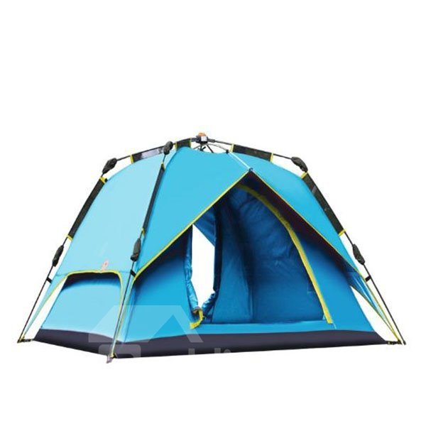 3-4 Person Bright Color Tent with Carry Bag Fiberglass One Room Tent