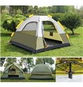 3-4 Person Two Layers Dark Green Waterproof Screened Outdoor Camping Tent