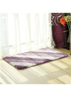 Simple Purple Stripe Home Decorative Doormat