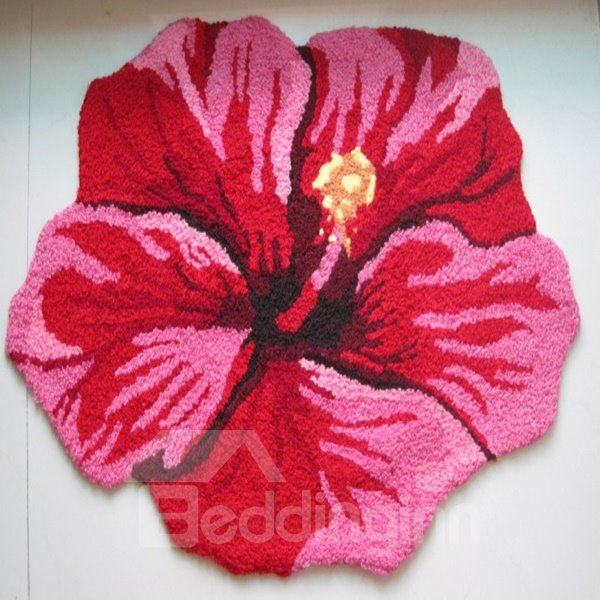 Hot Sale Pink Flower Home Decorative Area Rug