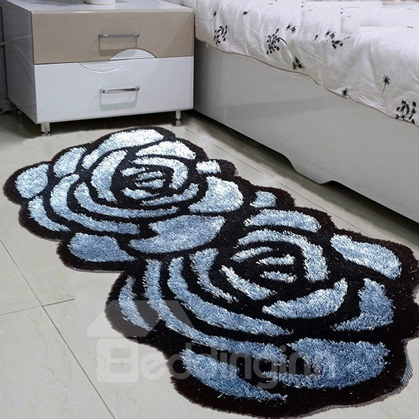 Hot Sale Blue Roses Home Decorative Area Rugs