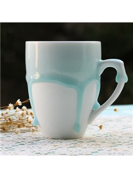 Simple Blue Overflow European Style Coffee Mug