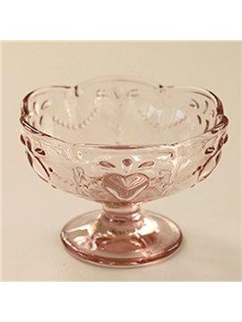 Cute Round Glasse Transparent Ice Cream Cup