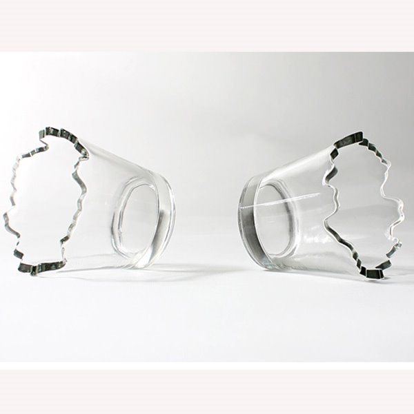 Transparent Simple Style Breach Shape Tea Cup