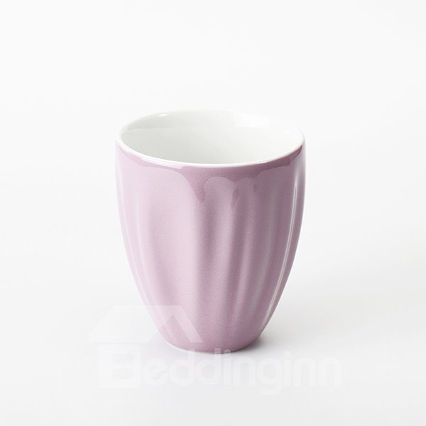 Creative Pink Stripe Over Flow Cup Milk cup