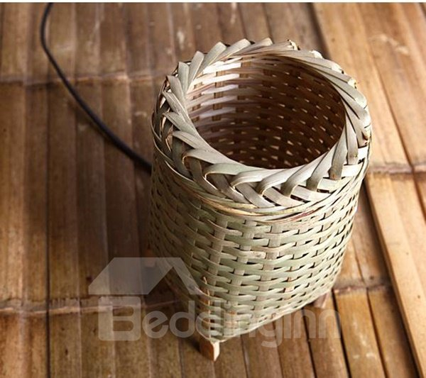 Creative Bamboo Weaving Home Decorative Table Lamp