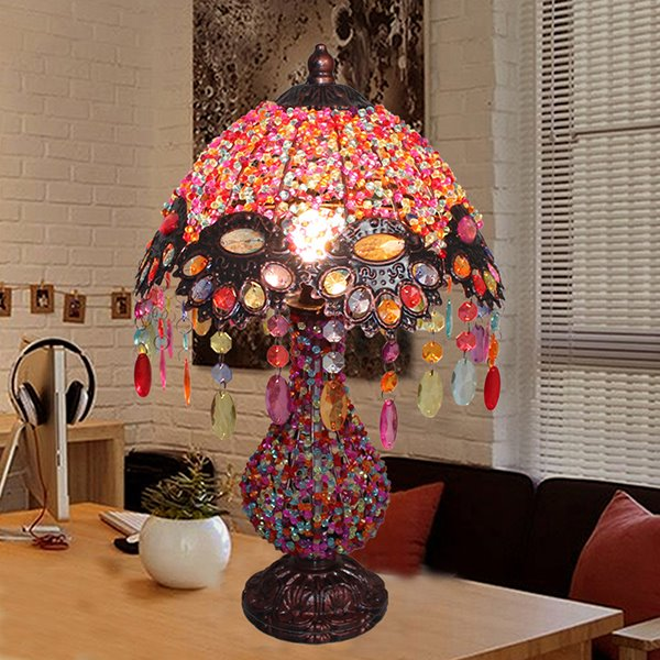 Beautiful Bohemian style Pearl Table Lamp for Home Decoration