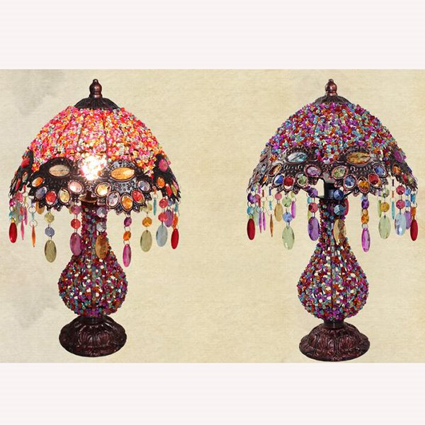 Beautiful Bohemian Style Pearl Table Lamp